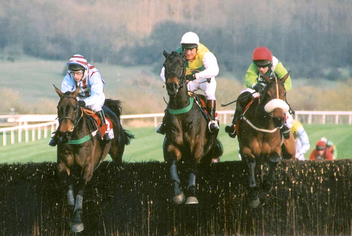 Best Mate on his way to victory in the 2003 Gold Cup (photo by Kate)