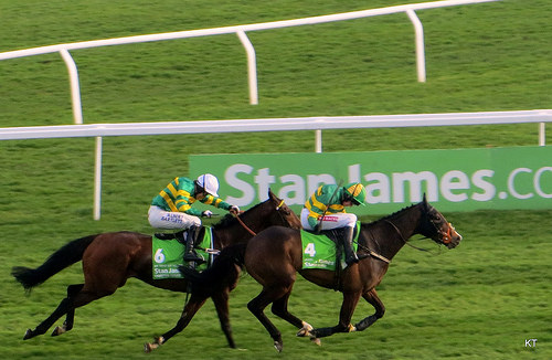 Jezki Winning the 2014 Champion Hurdle